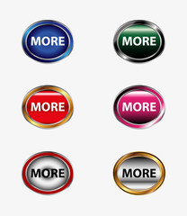 More icon button set vector