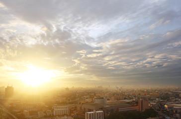 Bangkok sunset, Bangkok city, Bangkok Thailand, Sunset