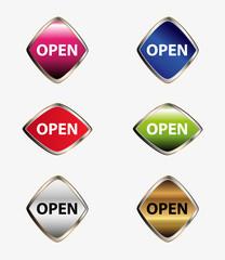 Open icon vector set