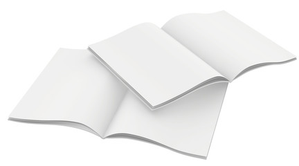 Couple of blank magazines template. on white background with