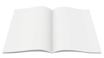 blank magazine on white background. Template for design.