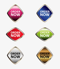 Order Now vector set button