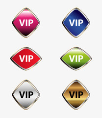 Vip label button set