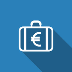 bag with eu currency symbol icon