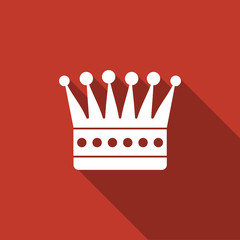 crown icon with long shadow