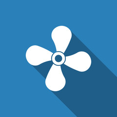fan icon with long shadow