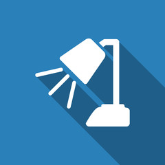 table lamp icon with long shadow
