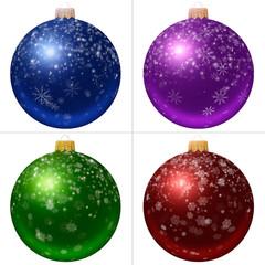 Collection of Christmas balls