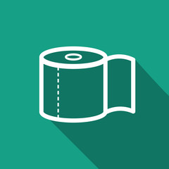 toilet paper icon with long shadow