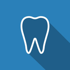 tooth icon with long shadow