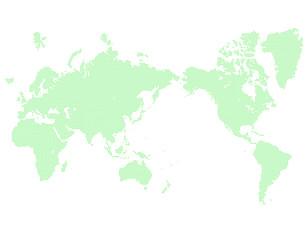 緑のドットの世界地図