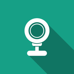 webcam icon with long shadow