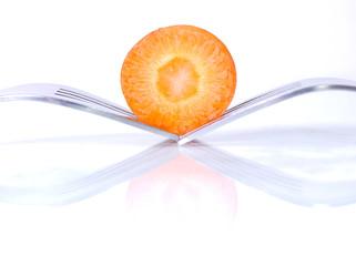 Морковь и вилки
