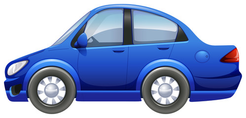 A blue vehicle