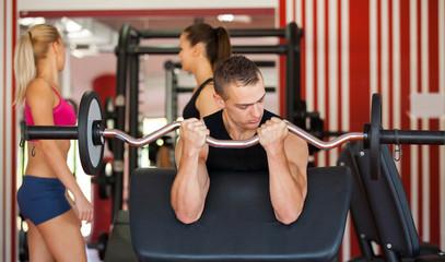 exercising gym