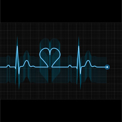 Illustration of medical electrocardiogram - ECG