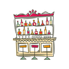 Bar. Vector illustration.