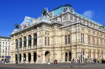 Wien Staatsoper; Wiener Opernhaus an Ringstrasse, Frontansicht
