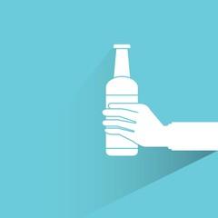 hand holding bottle