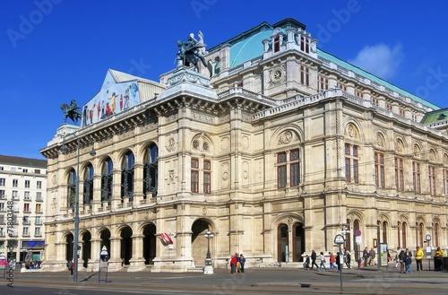 Papiers peints Vienne Wien Staatsoper; Wiener Opernhaus an Ringstrasse, Frontansicht