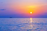 Fototapety Seaplane at sunset - Maldives