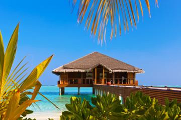 Spa on Tropical Maldives island