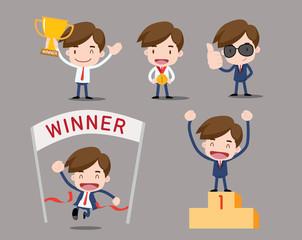 business character - winner