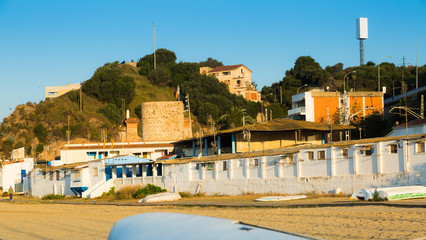 Catalan town at mediterranean coast. Montgat, Spain