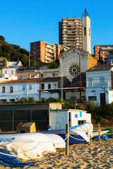catalan town at sea coast. Montgat