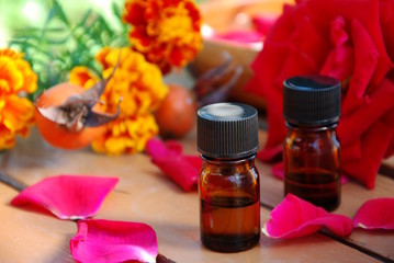 aromatherapy with rose
