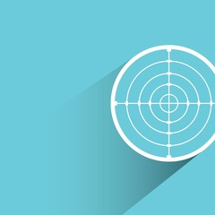 crosshair, dart target