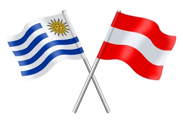 Flags: Uruguay and Austria