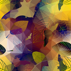 Halloween pattern with geometric effect