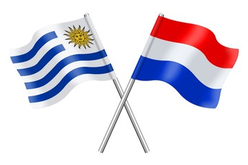 Flags: Uruguay and the Netherlands