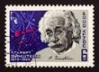 """Leinwandbild Motiv USSR postage stamp """"Albert Einstein"""""""