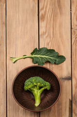 broccoli on wood