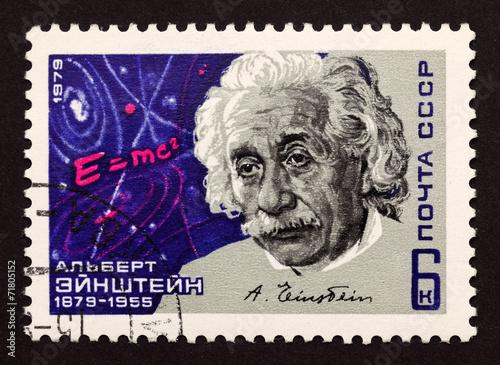 """Leinwanddruck Bild USSR postage stamp """"Albert Einstein"""""""