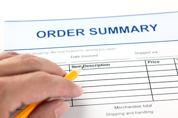 Order summary application form