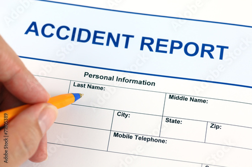 Accident report application form - 71805389