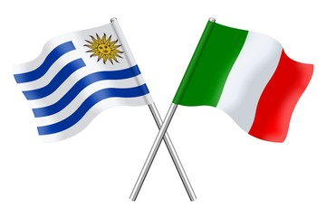 Flags: Uruguay and Italy