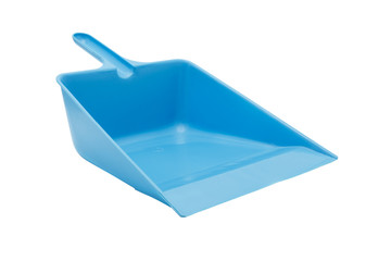 blue plastic dustpan
