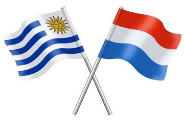 Flags: Uruguay and Luxembourg