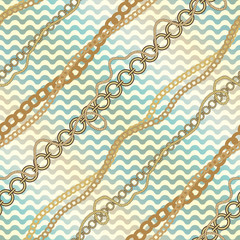 Nautical diagonal pattern on waves background.