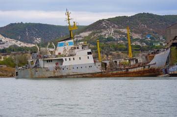 Sunken ship sea