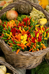 basket of chili peppers