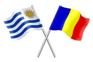 Flags: Uruguay and Romania