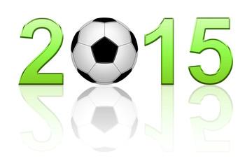 Ballon de football 2015 vert
