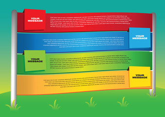 Layout design of colorful outdoor banners