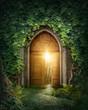 Leinwanddruck Bild - Mysterious entrance