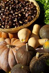 pumpkins and chestnuts